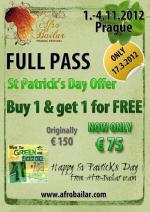 St Patrick's Day Special Offer: BUY 1 FULL PASS & GET 1 FOR FREE! ONLY 1 DAY OFFER!